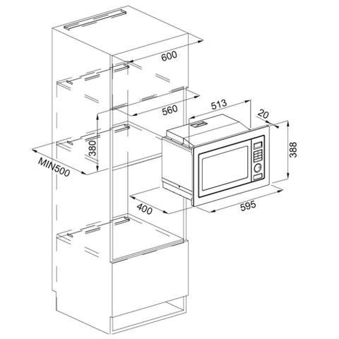 Imagem de Micro-ondas Franke Smart 25 Litros Aço Inox Escovado 220V