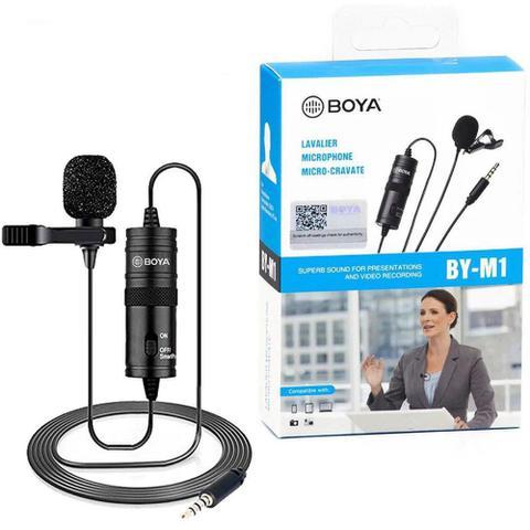 Imagem de Microfone Boya de Lapela Modelo By M1 para Câmeras diversas e Smartphones