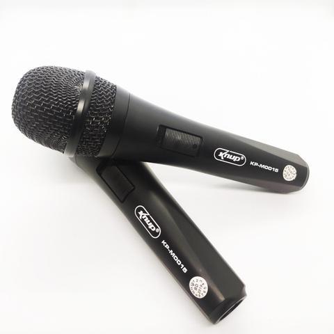 Imagem de Microfone Com Fio Duplo Profissional Modelo KP-M0015