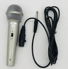 Imagem de Microfone Com Fio Prata dinâmico Karaokê Profissional Dm501/ 701