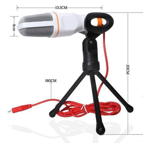 Imagem de Microfone Condensador de Mesa Com Suporte Tripe Para Notebook Pc KP-917