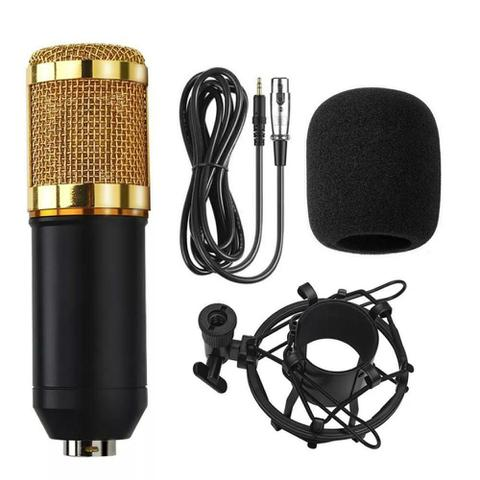 Imagem de Microfone Condensador Estúdio Pop Filter Aranha e Braço Articulado GT813 - Lorben