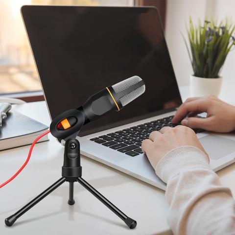 Imagem de Microfone Condensador P2 Mesa Gravação Profissional Vídeos Pc Câmera Celular Iphone Android Youtuber Original