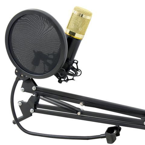 Imagem de Microfone Condensador Pop Filter Aranha com Braço Articulado