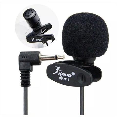 Imagem de Microfone De Lapela P2 Profissional Gravação Câmera Dslr Pc Desktop Fimadoras Entrevistas Youtuber Universal Original