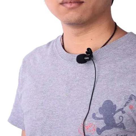 Imagem de Microfone de Lapela Para Celular Com Cabo Adaptador P3 E Cabo de Áudio Extensor P2XJ2