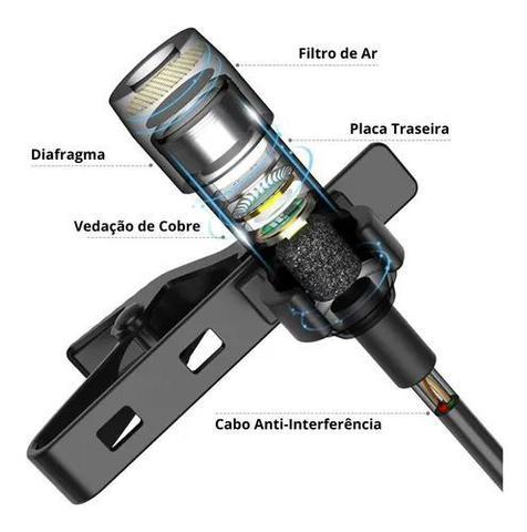 Imagem de Microfone De Lapela Para Celular Profissional Lavalier P2