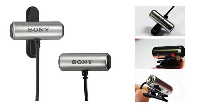 Imagem de Microfone de Lapela para Gravadores Sony ECM-CS3 Original Lacrado