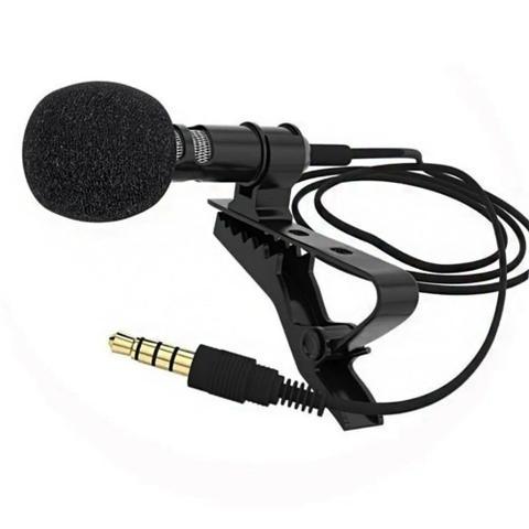 Imagem de Microfone de Lapela Profissional Celular Gravaçao Audio Youtuber Jornalista Reportagem Palestra Evento Professor Smartphone