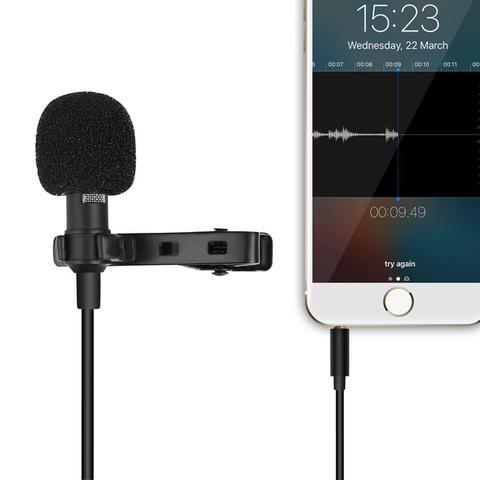Imagem de Microfone de Lapela Profissional Para Celular Smartphone Android Iphone Original Youtuber Vídeos Nota Fiscal