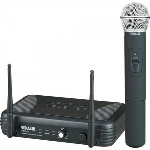 Imagem de Microfone de Mão UHF VWR15M Preto VOKAL