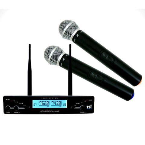 Imagem de Microfone Duplo sem Fio em UHF UD-2000 TSI