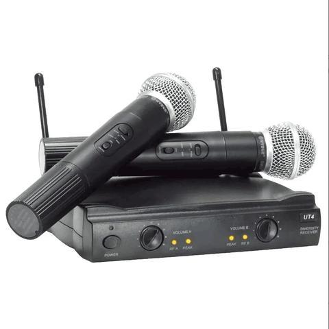 Imagem de Microfone Duplo Sem Fio Profissional Uhf Igreja Karaoke