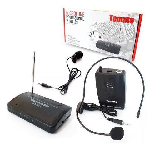 Imagem de Microfone Headset Sem Fio Com Receptor Mt2201 Preto