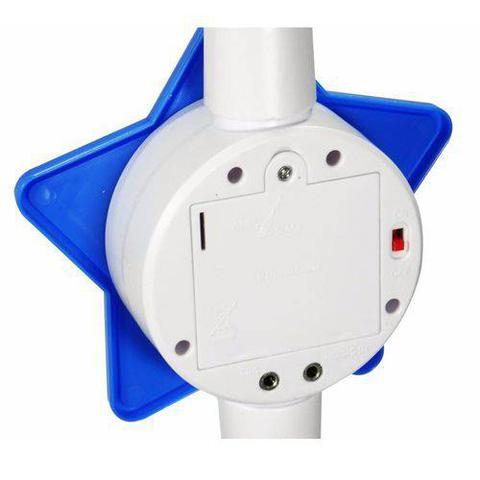 Imagem de Microfone Infantil Azul Led Rock Star Mp3 Som Luz Musica Karaoke Brinquedo