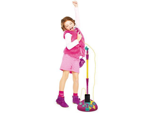 Imagem de Microfone Infantil Barbie Fabuloso com Pedestal