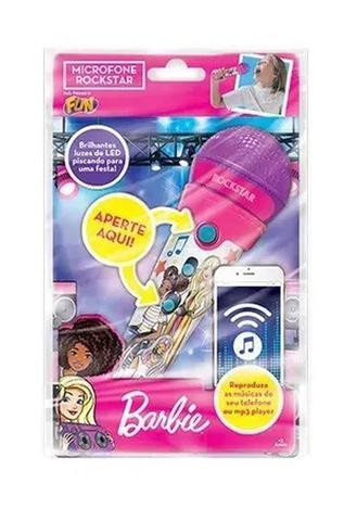 Imagem de Microfone Infantil Barbie Rockstar - Fun