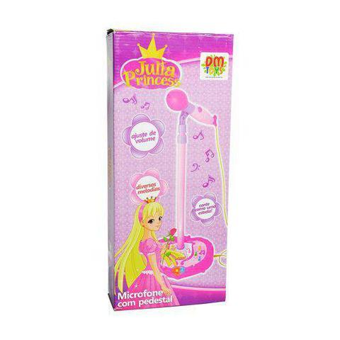 Imagem de Microfone Infantil Com Amplificador Karaoke E Pedestal Com Luz E Som Rosa