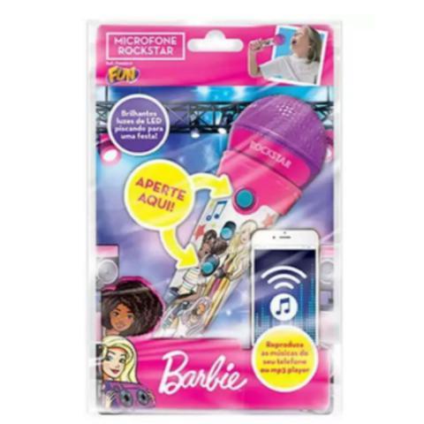 Imagem de Microfone Infantil Com Função Mp3 Barbie Rockstar - Fun 7898039605333