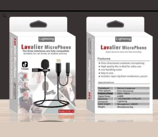 Imagem de Microfone Lapela Lavalier Profissional JH 041 Lightning