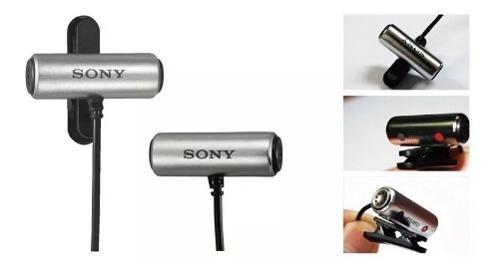 Imagem de Microfone Lapela Sony Ecm-cs3 Original Entrevista Gravador