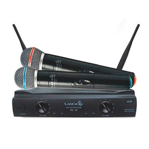 Imagem de Microfone lyco uh02mm s/fio de mao uhf duplo