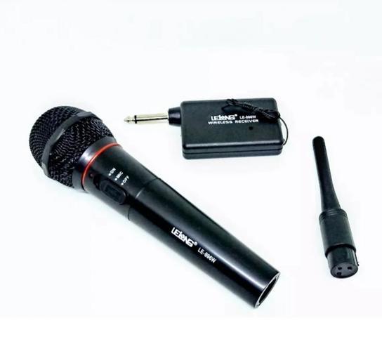 Imagem de Microfone Profissional Sem Fio - Modelo Lelong Le 996w