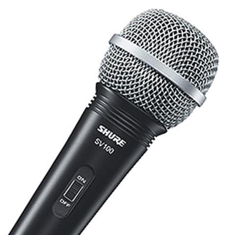 Imagem de Microfone Profissional Vocal com Fio 4,5 Metros SV100 - Shure - Shure