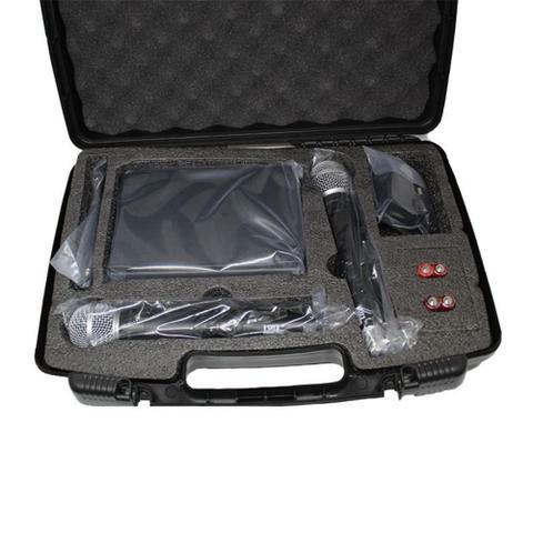Imagem de Microfone s/ fio Profissional JWL -- Duplo (2 bastões) -- UHF - U-585
