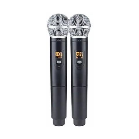 Imagem de Microfone s/ fio vokal dvs100dm duplo de mao