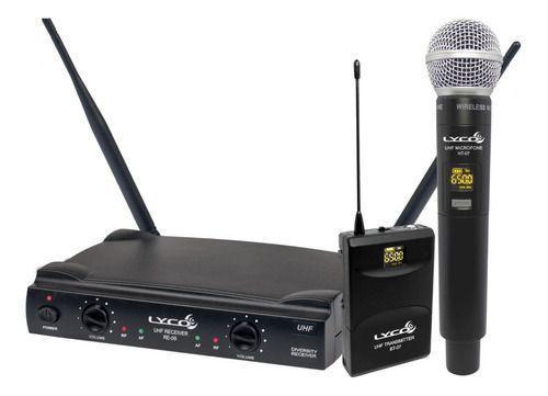 Imagem de Microfone Sem Fio De Mão Duplo Lyco Uh-08mhli Headset Lapela