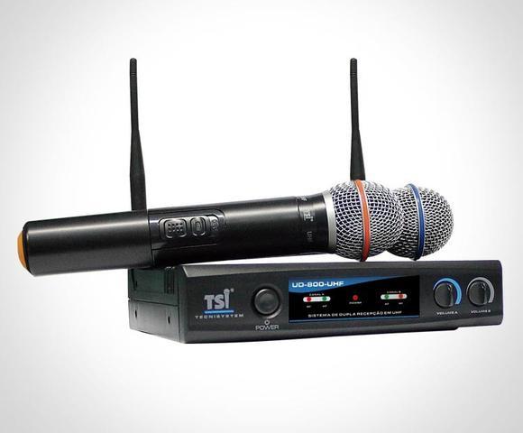 Imagem de Microfone Sem Fio Duplo Em Uhf, Ref. Tsi-ud-800-uhf