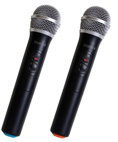 Imagem de Microfone Sem Fio Duplo Ksr Pro 002-d Ht Mão + Mão
