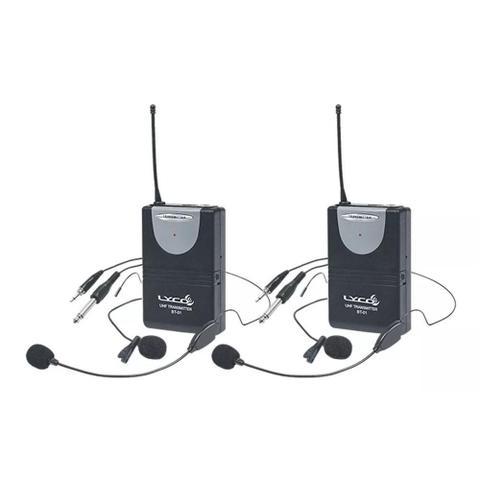 Imagem de Microfone Sem Fio Duplo Lyco UH02HLIHLI 2 Headset + 2 Lapela UHF