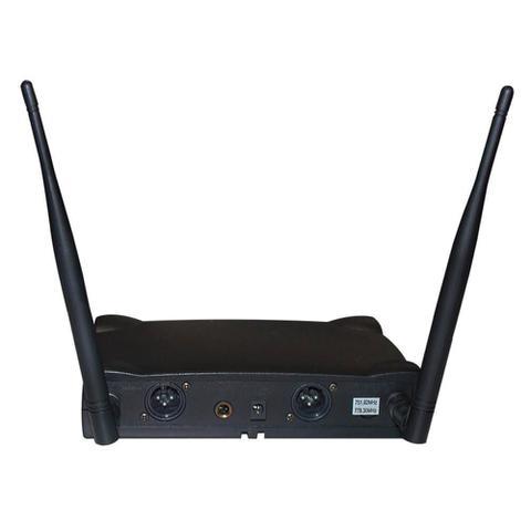 Imagem de Microfone Sem Fio Duplo Mão Lyco UH02MM UHF