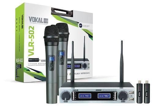 Imagem de Microfone Sem Fio Duplo Vokal Vlr-502 Bateria De Lithium