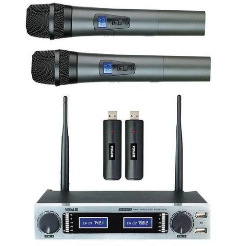 Imagem de Microfone Sem Fio Duplo Vokal VLR502