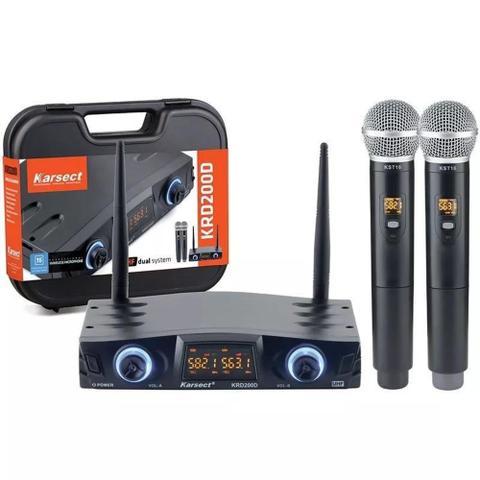 Imagem de Microfone Sem Fio Karsect KRD200 DM Duplo digital tipo shure krd200dm