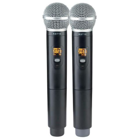 Imagem de Microfone Sem Fio Karsect KRD200 DR Mão Duplo Recarregável