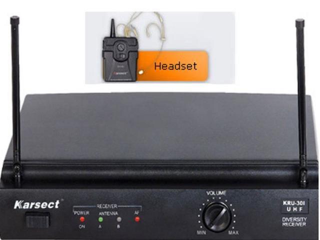 Imagem de Microfone sem fio Karsect KRU-301/KST-5U HEADSET