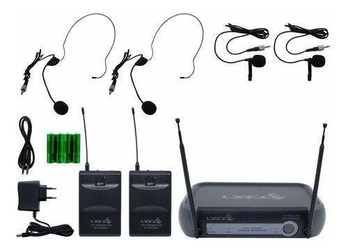 Imagem de Microfone Sem Fio Prof Vhf Headset Auricular Lapela Lyco