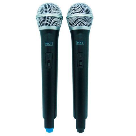 Imagem de Microfone Sem Fio Profissional Duplo Uhf Tipo Shure - Mxt Uhf-202