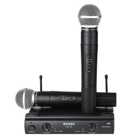 Imagem de Microfone sem fio profissional duplo weisre pgx-58 uhf - Feng