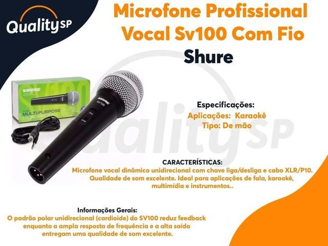 Imagem de Microfone Shure Profissional Vocal Sv100 Com Fio