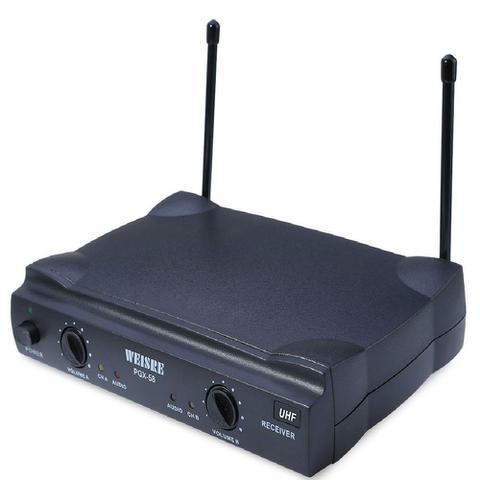Imagem de Microfone Wireless Profissional duplo Sem Fio Weisre Pgx-58 UHF GT456 - Lorben