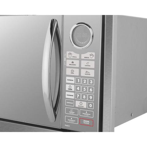 Imagem de Microondas de Embutir Philco 30 Litros PME31BM Aço Escovado 110v