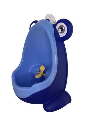 Imagem de Mictório Bebê Troninho Infantil Sapinho Desfralde Menino Azul com Recipiente Azul Claro