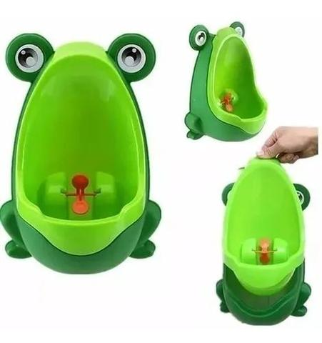 Imagem de Mictório Infantil Menino Bebê Sapinho Verde De Desfralde - Pinico De Desfralde  Portátil