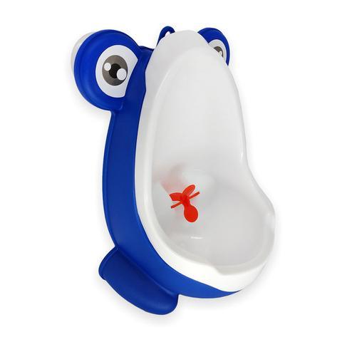 Imagem de Mictorio infantil sapinho Micbaby pinico menino azul e branco nacional