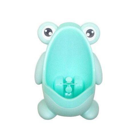 Imagem de Mictório Infantil Sapinho Pinico Troninho Azul Bebê Xixi
